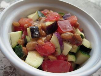 夏野菜のイタリアン納豆