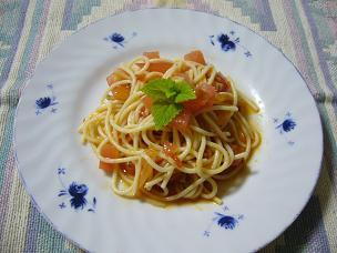 トマトのひんやりスパゲッティ