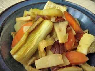 焼き葱の梅カレー煮