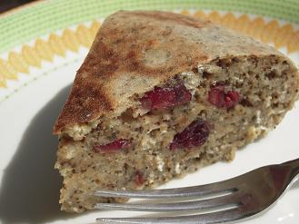 紅茶とクランベリーの簡単おからケーキ