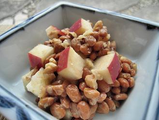 納豆と林檎の胡桃ックス