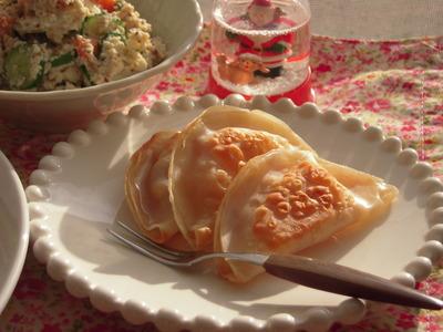 餃子の皮で簡単アップルパイ風