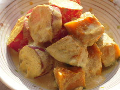 かぼちゃとさつま芋の豆乳カレー