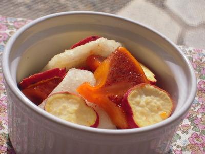 柿と梨とさつま芋のメープルジンジャーレモン風味