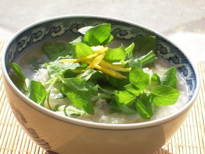 七草粥の柚子味噌風味