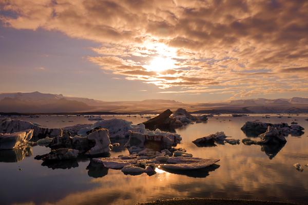 13氷河夕景