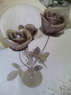 薔薇のロウソク