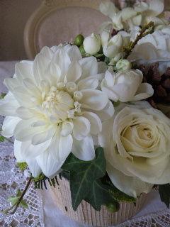 クリスマス用ホワイト花