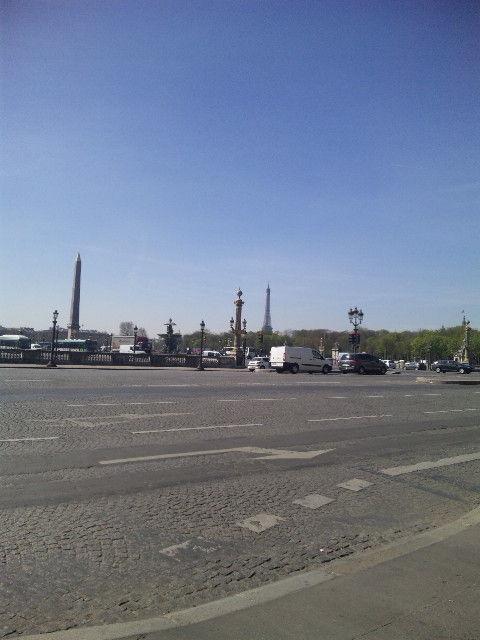 春のパリコンコルド広場