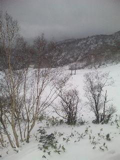 万座のスキー場2010暮れ