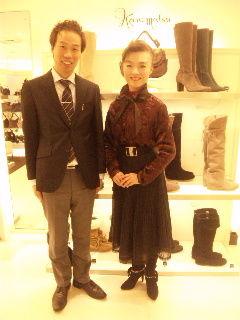 かねまつ恵比寿店店長様との写真