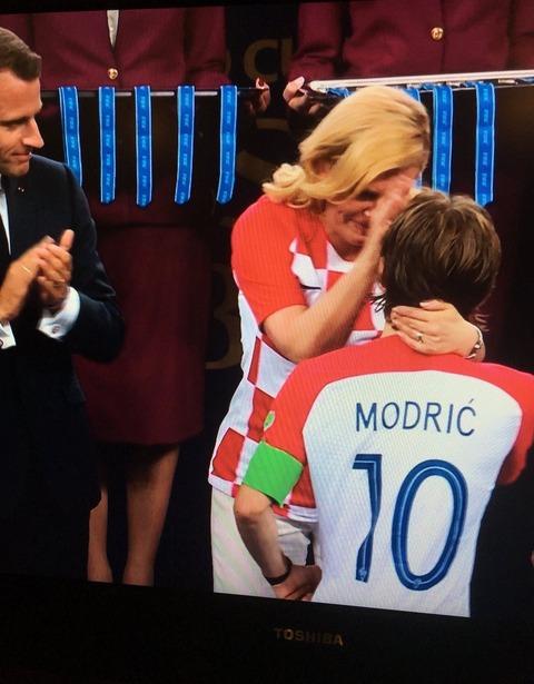 大統領とモドリッチ