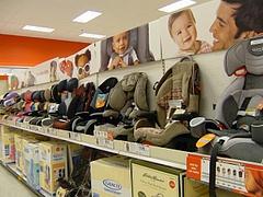 Targetカーシート売り場