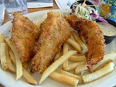 Lake Tahoeで食べたフィッシュ&チップス