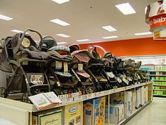 Targetベビーカー売り場