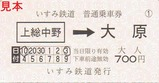 いすみ鉄道普通乗車券中野大原