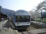 20050430会津鉄道会津浪漫号芦ノ牧温泉駅展望車