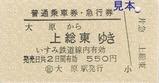いすみ鉄道普通乗車券・急行券1