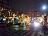 函館バス函館夜景号ロープウェイ付近