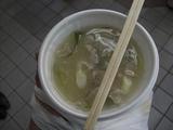 伊豆急行2009年快速「伊豆初日の出号」-10下田駅とん汁サービス