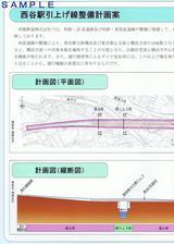 相鉄西谷駅引上げ線整備に関する説明会内側左