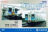 北総鉄道7000形車両引退記念写真集パスネ加工