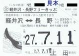 しなの鉄道軽井沢・長野フリーきっぷ