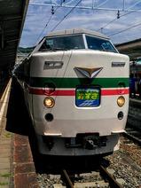 木曽あずさ号辰野駅