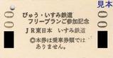びゅう・いすみ鉄道フリープランご参加記念硬券乗車証裏