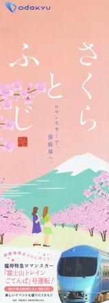 小田急富士山トレインごてんば号パンフさくらとふじ