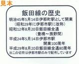 飯田線リレー号乗車記念伊那市切符裏