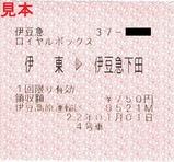 2010伊豆初日の出号ロイヤルボックス券