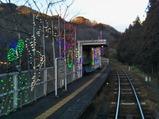 20210218わたらせ渓谷鐵道イルミネーション中野駅
