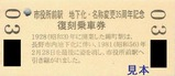 長野電鉄市役所前駅地下化・名称変更35周年記念券2裏
