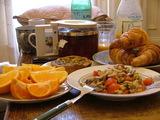 充実した朝食