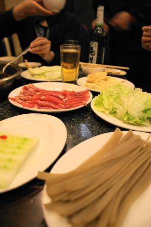 野菜と果肉とかいろいろとビール