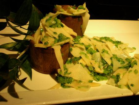 芸術的な竹の子料理