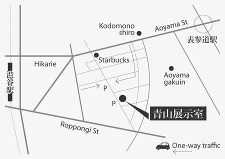 青山展示室401地図