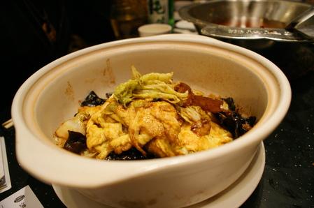 卵と豚肉ときくらげの炒め物