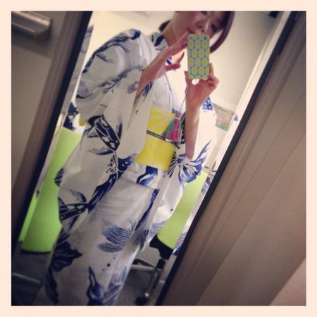 今年初浴衣は金魚尾ひれ(白)と最近のキモノ考