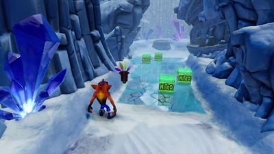 ゲームの氷でツルツルするステージwww