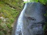 七ヶ宿ダムのそばの滝