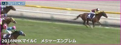NHKマイルC メジャーエンブレム