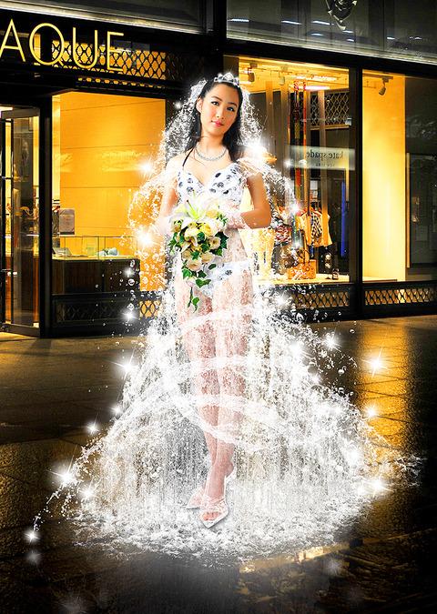 6水のウエディングドレス