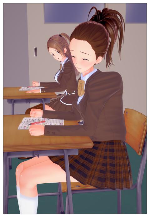 服の中で乳首を弄られる女子高生_004