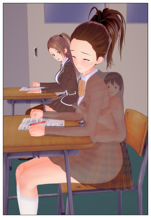 服の中で乳首を弄られる女子高生_005