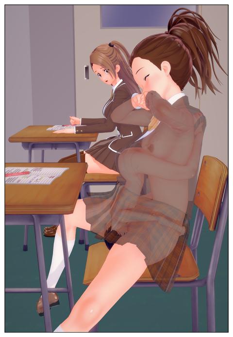 服の中で乳首を弄られる女子高生_008