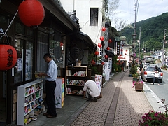 高遠の商店街