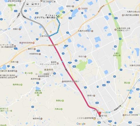 琴平駅~金蔵寺駅