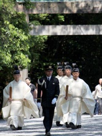 檐付祭 神宮禰宜以下神職参進